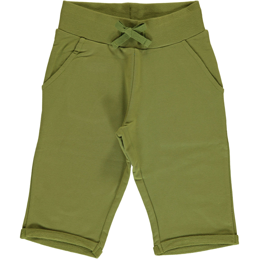 Maxomorra Sweat Shorts Knee Apple Green - Korte Broek Groen