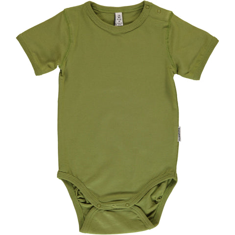 Maxomorra Body Shortsleeve Apple Green - Romper Appel Groen