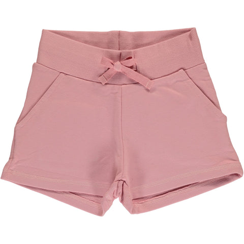 Maxomorra Sweat Shorts Dusty Pink - Korte Broekje Zacht Roze