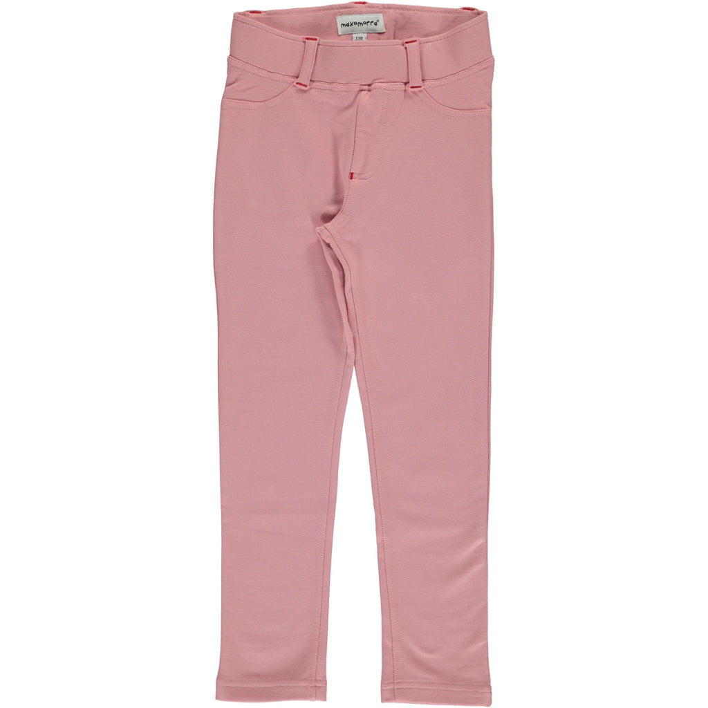 Maxomorra Tregging Sweat Dusty Pink - Zachte Roze Strakke Sweat Broek