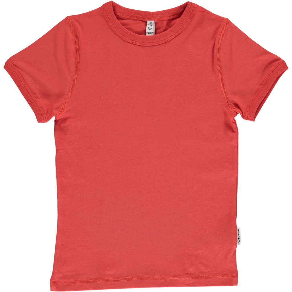 Maxomorra T-Shirt Rusty Red - T-Shirt Roest Rood