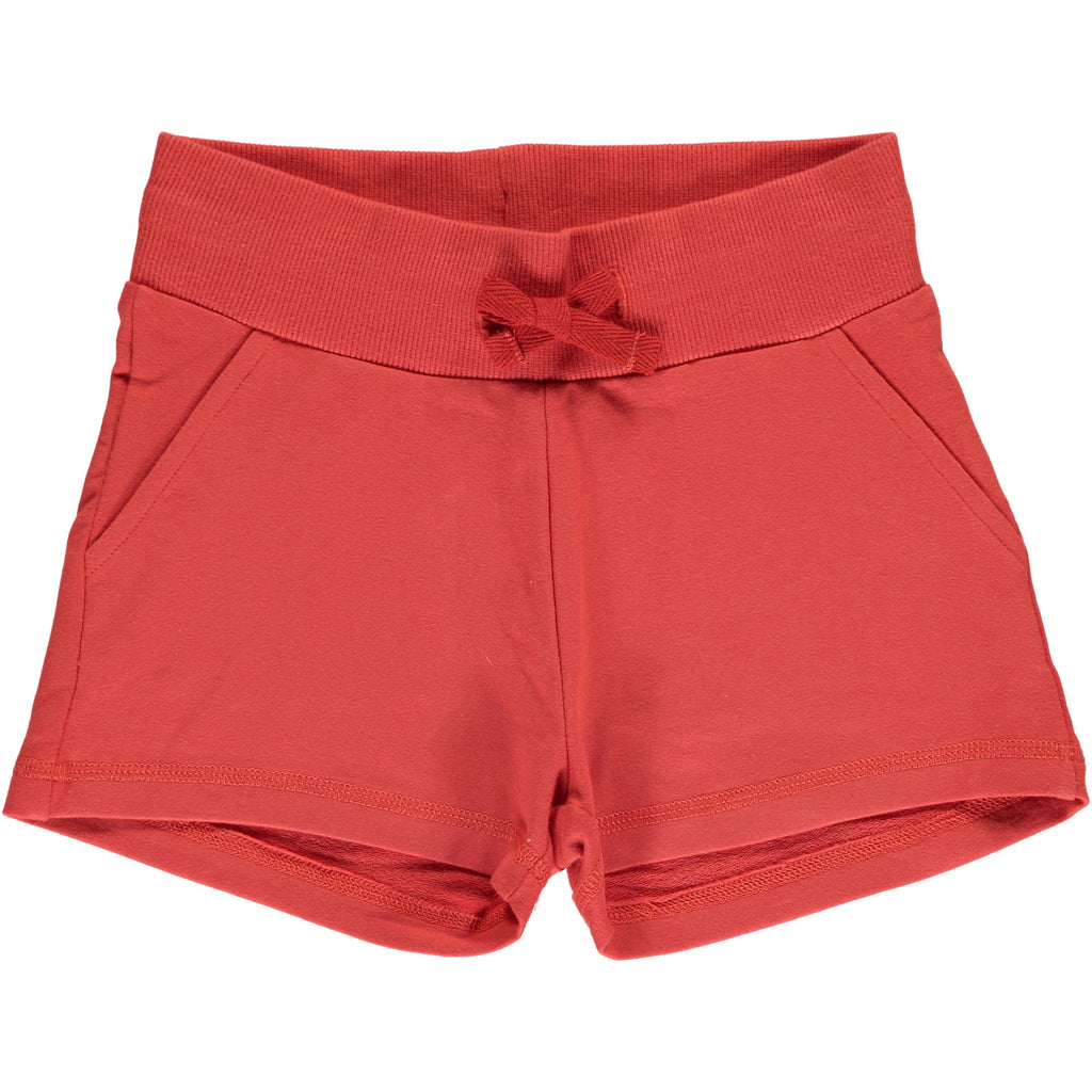 Maxomorra Sweat Shorts Rusty Red - Korte Broekje Roest Rood