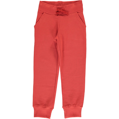 Maxomorra Sweatpants Rusty Red - Sweat broek Roest Rood