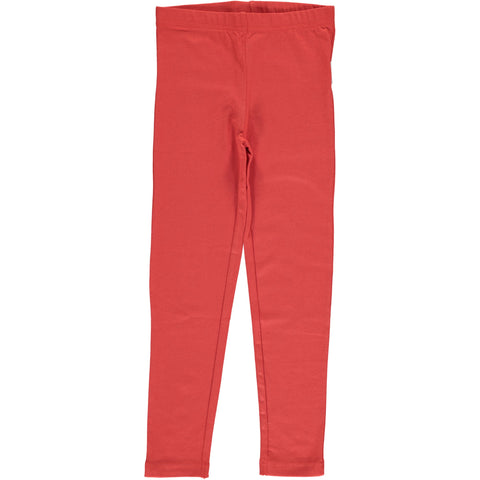 Maxomorra Leggings Rusty Red - Roest Rode Legging