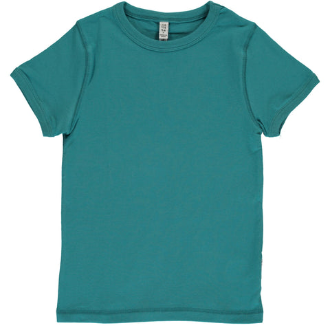 Maxomorra T-Shirt Soft Petrol - T-Shirt Soft Petrol