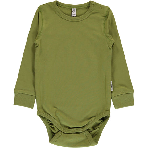 Maxomorra Body Longsleeve Apple Green - Romper Appel Groen