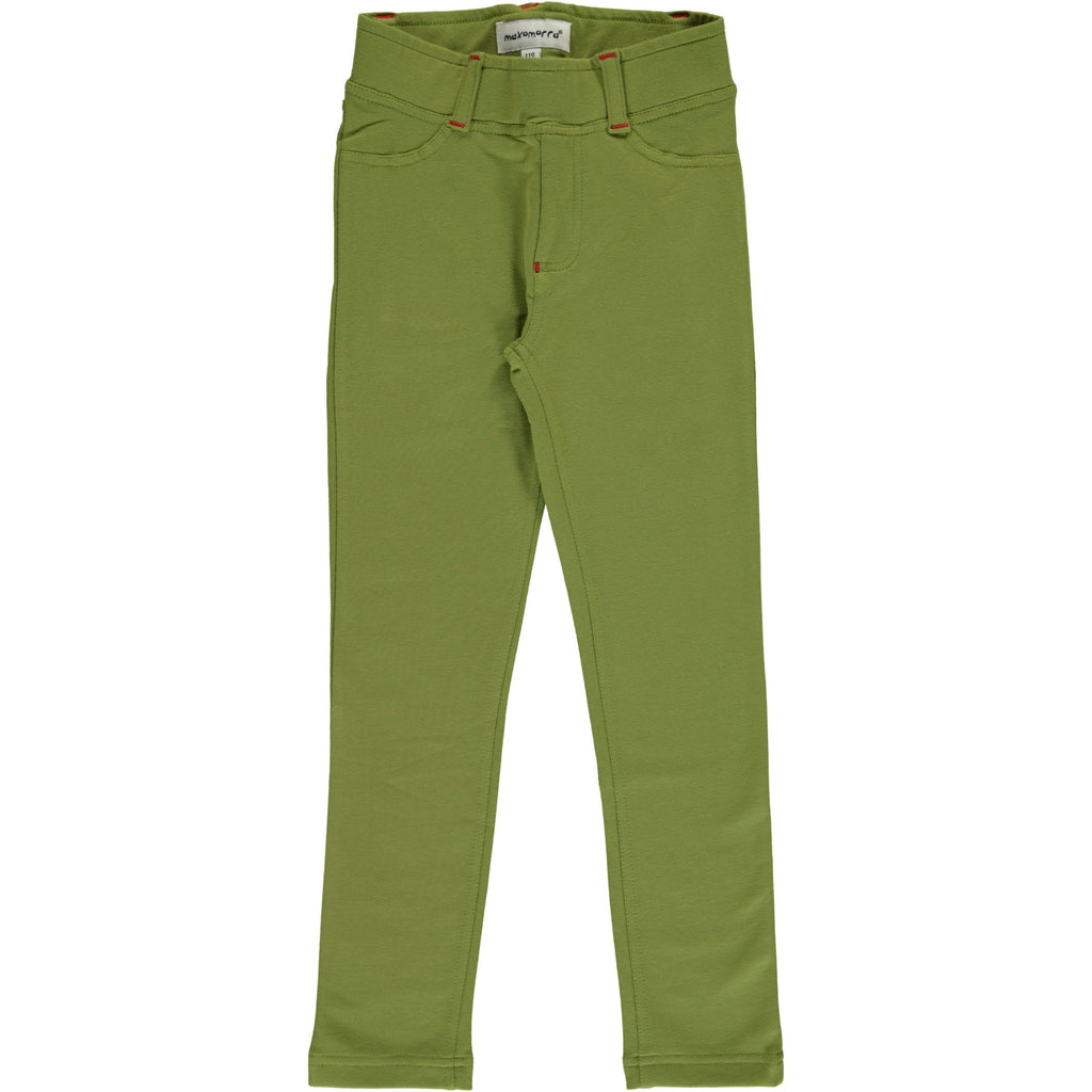 Maxomorra Tregging Sweat Apple Green - Appel Groen Strakke broek