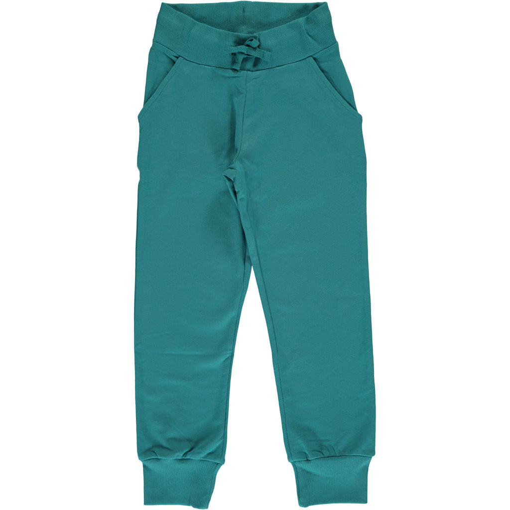 Maxomorra Sweatpants Soft Petrol - Sweat broek Zacht Petrol