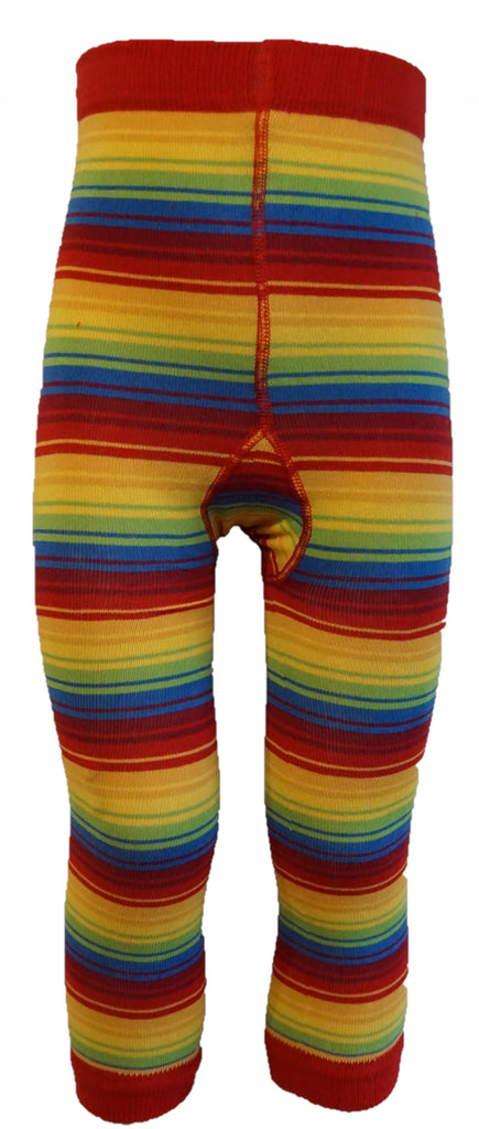 Slugs and Snails - Footless Tights Rainbow Stripe - Voetloze Maillot/Legging Regenboog Strepen