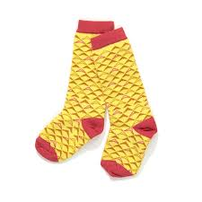 Alba of Denmark - Gary Knee Socks Yellow Boomerang
