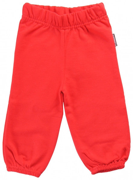 Maxomorra Pants Baby Sweat Red Rood