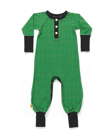 AlbaBaby - Jumpsuit Playsuit Fedigby Green/Grey Stripes