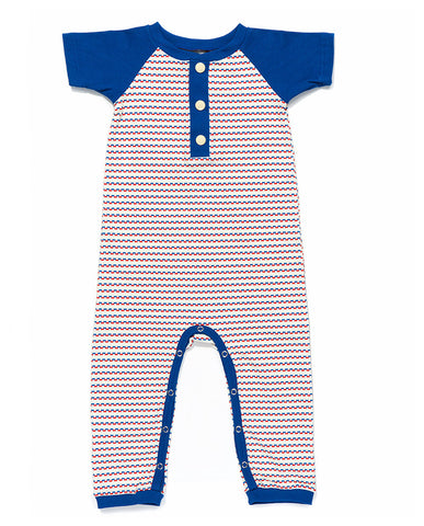 Albababy - Enno Jumpsuit Blue/Red