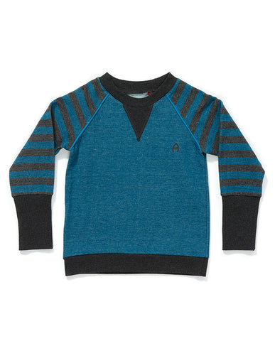 AlbaBaby - Blouse Fante Pullover Grey Blue Stripes