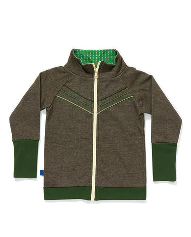 AlbaBaby - Zipper Cardigan Frank Brown