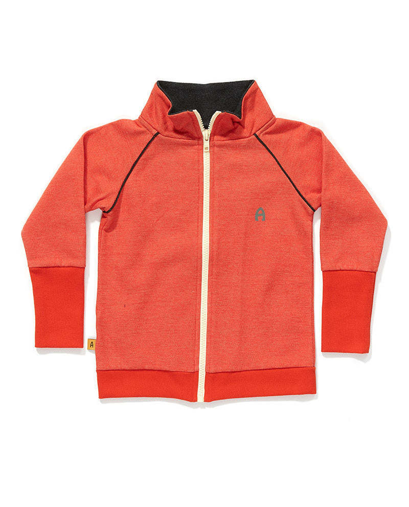AlbaBaby - Zipper Cardigan Frank Red