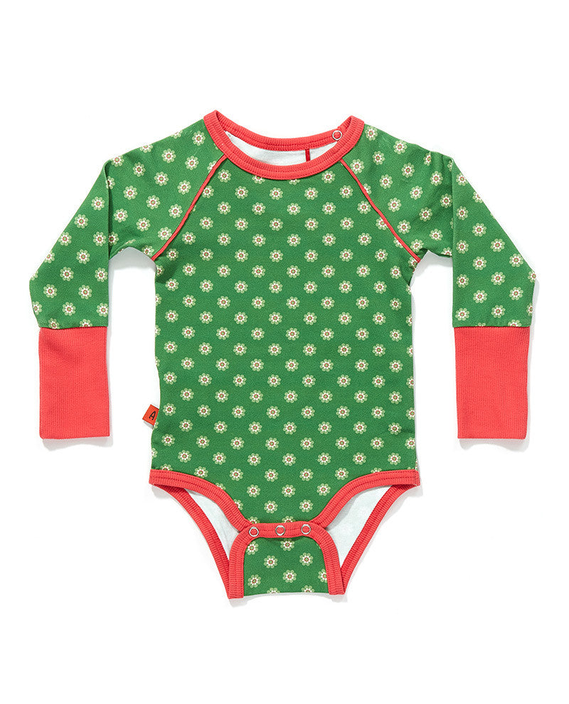 AlbaBaby - Body/Romper Freddy Green Flower