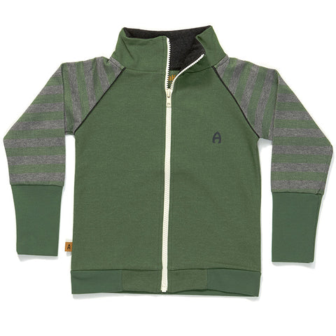 AlbaBaby Gant Zipper Cardigan Green