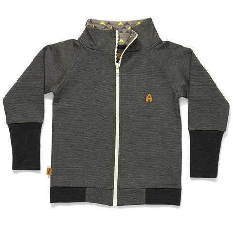 AlbaBaby Gant Zipper Cardigan Grey