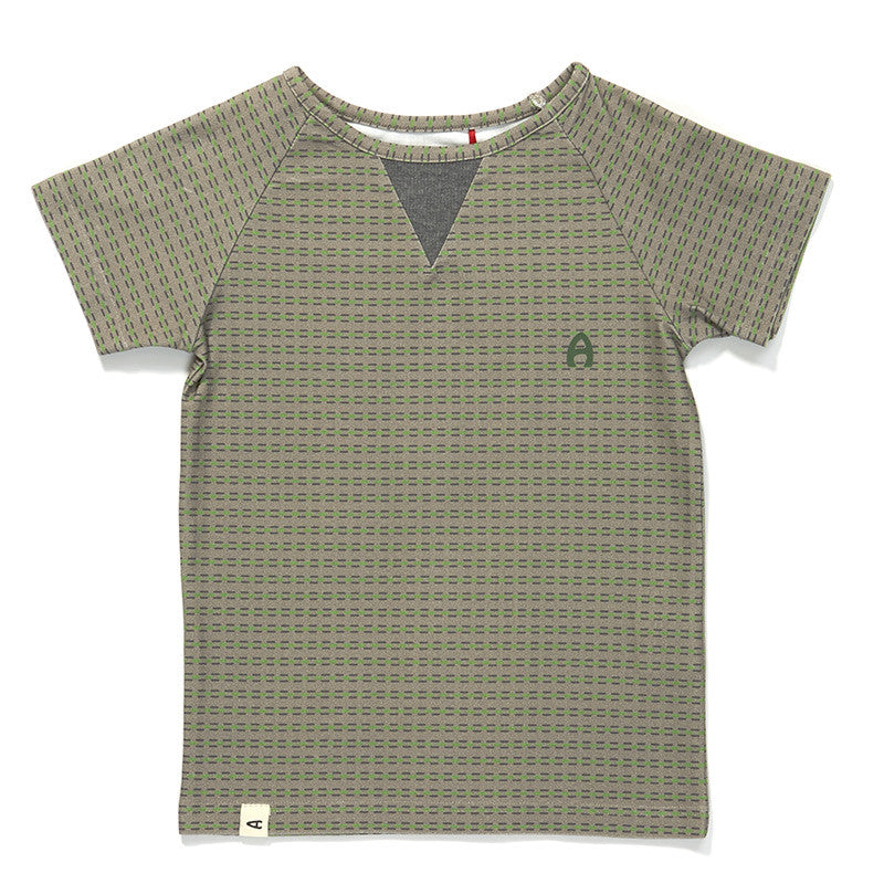 AlbaBaby - Gate T-Shirt Green/Grey Striped