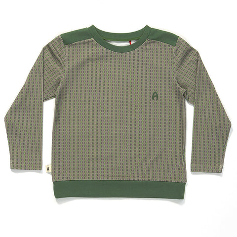AlbaBaby Gavin Sweat Green/Grey Striped