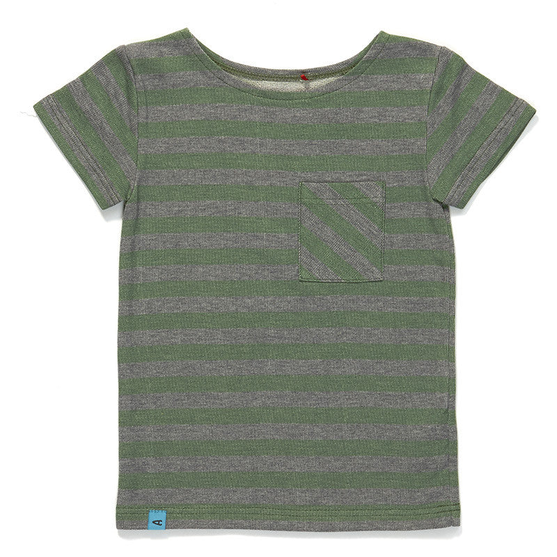 AlbaBaby Glow Pocket T-Shirt Green Striped