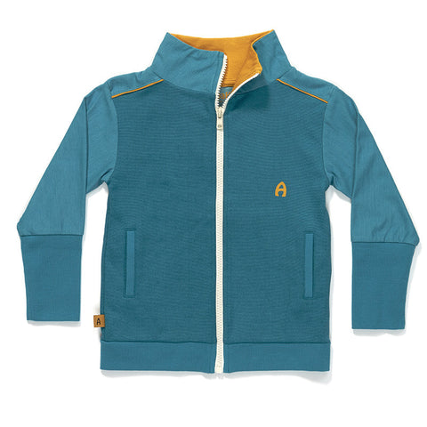AlbaBaby Grap Zipper Cardigan Blue