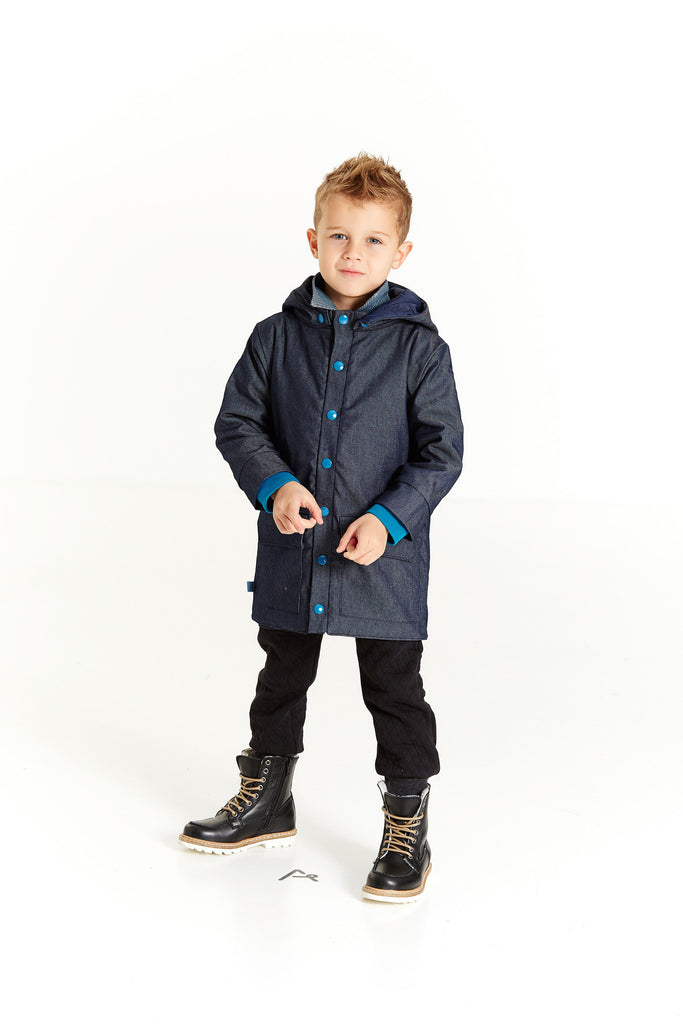 AlbaBabY Harry Jacket Dark Blue - Denim Winterjas