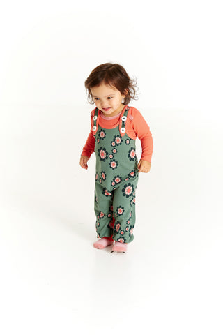 AlbaBabY Hedashy Crawlers - Duck Green Flower