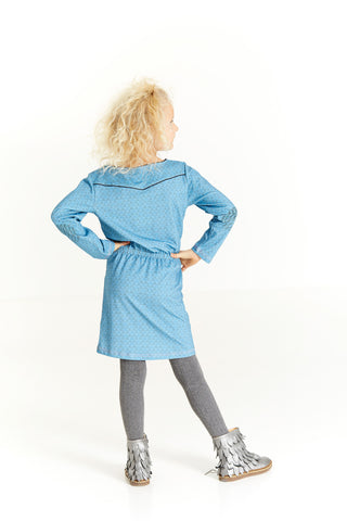 AlbaBabY Hilda Dress - Provincial Blue Boom