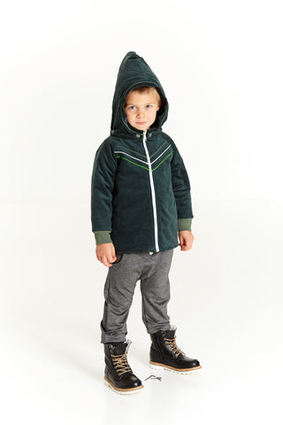 AlbaBabY Hubert Jacket Green Gables - Winterjas Groene Rib