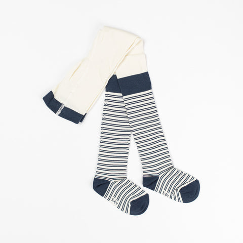 AlbaBaby Tights Karla Dark Denim Striped
