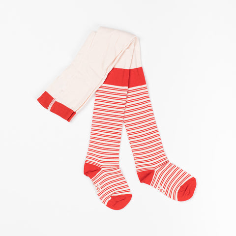 AlbaBaby Tights Karla Orangecom Striped