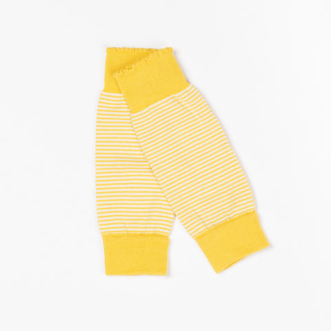 AlbaBaby Legwarmers Bamboo Striped Yellow