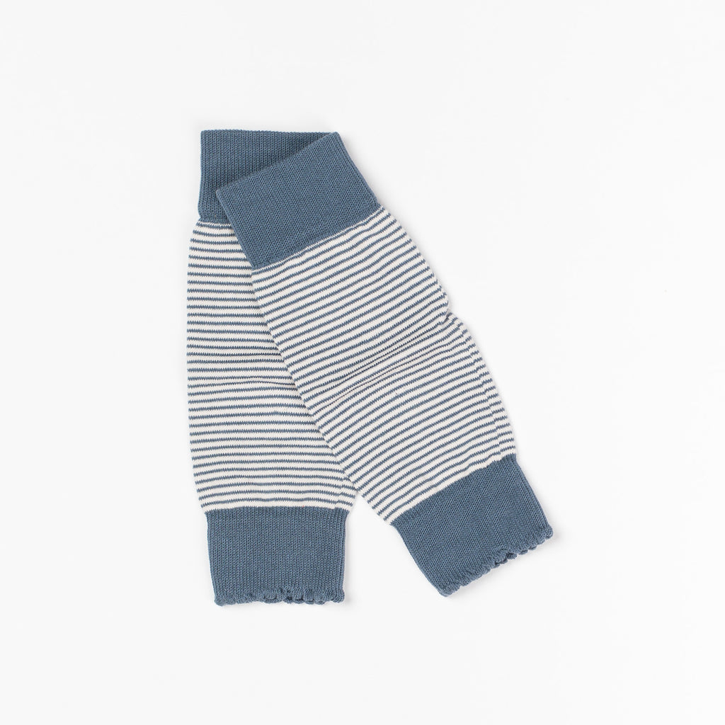 AlbaBaby Legwarmers Dusty Rose/Navy Striped