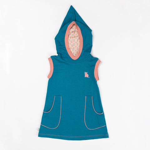 AlbaBaby Dress Hood Maria Lyons Blue
