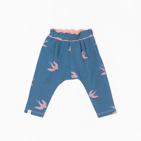 AlbaBabY - Hubbie Baby Pants Dark Denim Bird