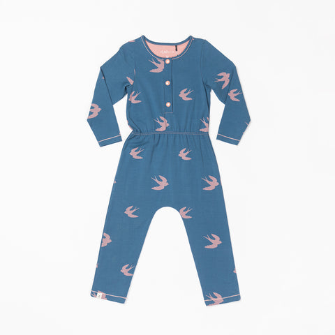 AlbaBabY - Sabina Jumpsuit Dark Denim Bird