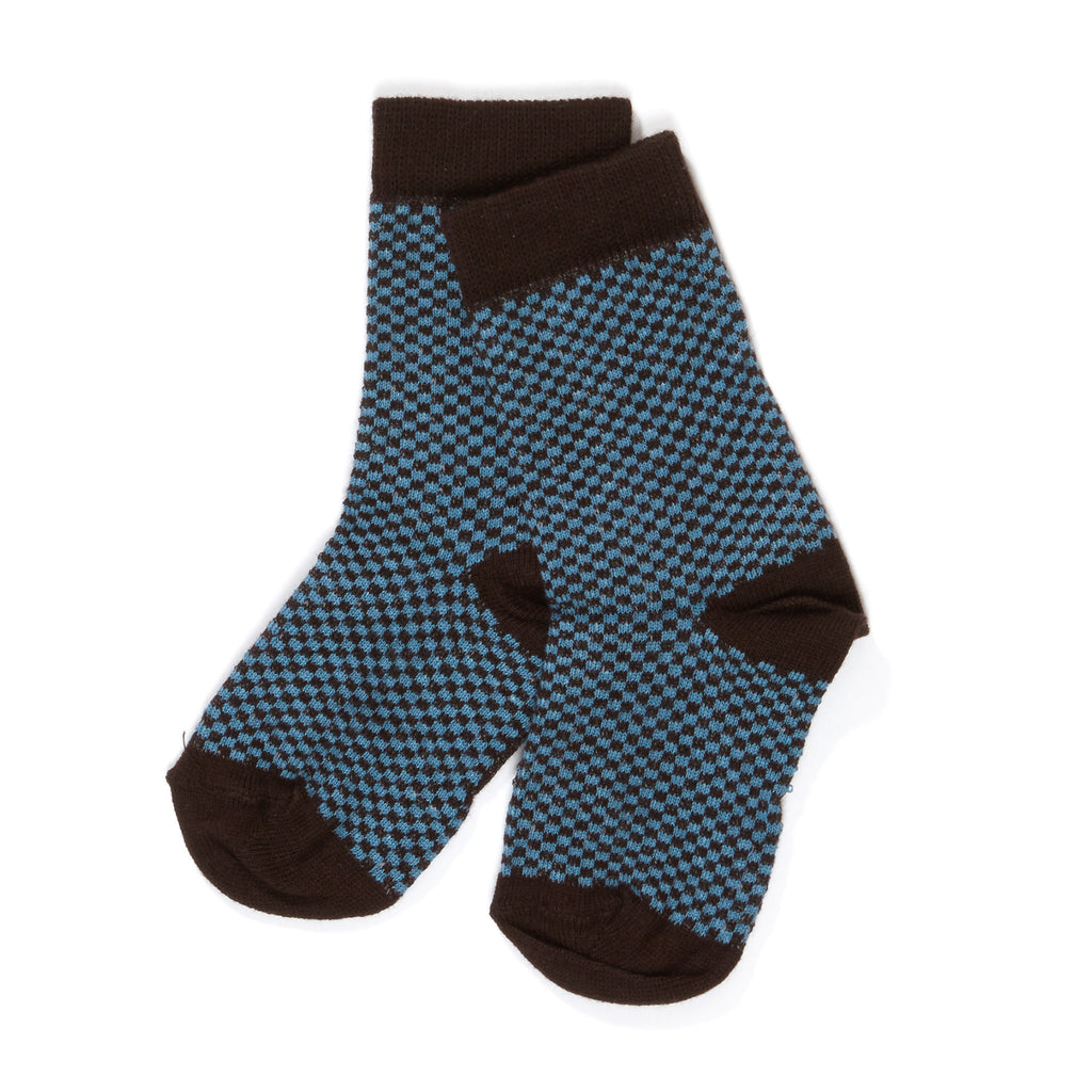 AlbaBabY Hanan Socks - Provincial Blue Cubes