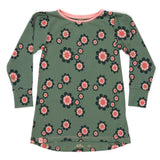 AlbaBabY Hanya Dress - Duck Green Flower