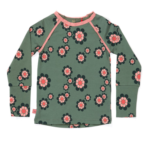 AlbaBabY Helia Blouse - Duck Green Flower