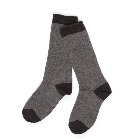 AlbaBabY Herle Knee Socks - Medium Grey
