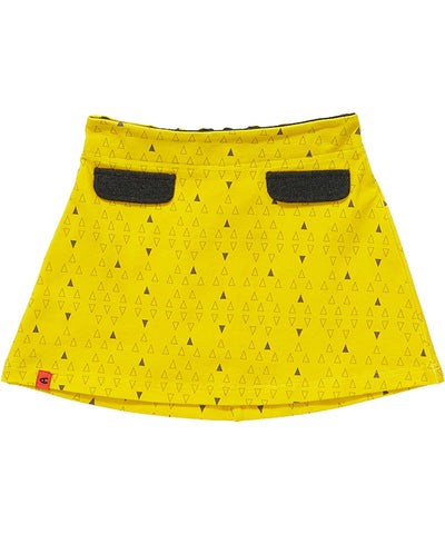 Alba of Denmark - Flow Skirt Yellow Triangles