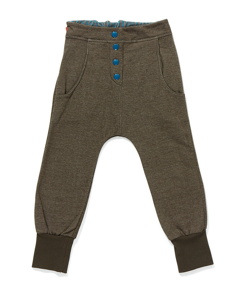 AlbaBaby Pants Fai Button Pants Brown