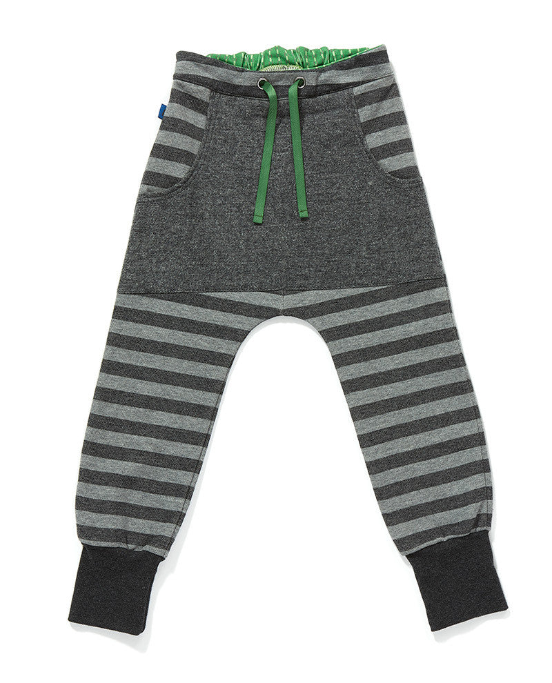 AlbaBaby Pants Fahn Grey/Grey Striped