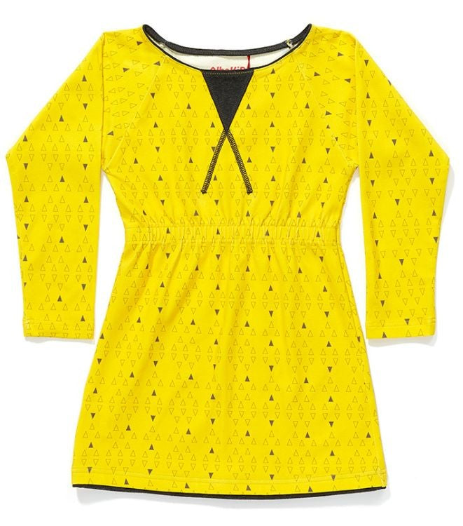 Alba of Denmark - Fiona Dress Yellow Triangle
