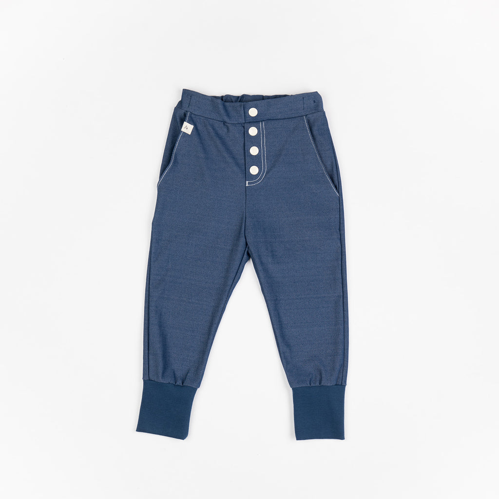 AlbaBabY - Hai Button Pants Estate Blue