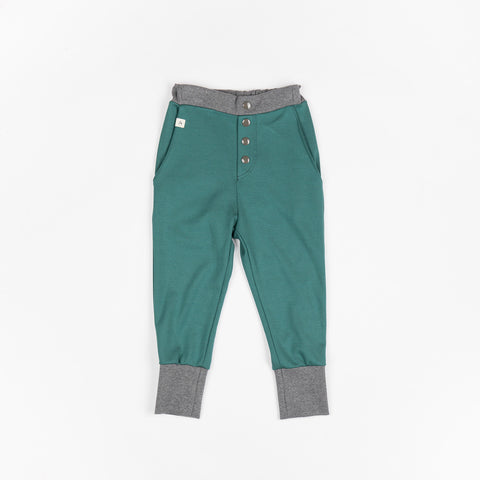 AlbaBabY - Hai Button Pants Silver Pine Melange