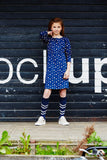 Atracktion Dress Carryn Dark Denim Dots
