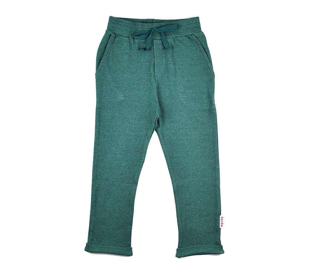 Baba Babywear - Baggy Pants Bicolor Green Piqué